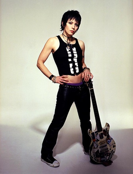 Joan Jett wielding an entirely different kind of steely length...