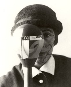 Sophie Taeuber and her Dada Head, Zurich 1922.