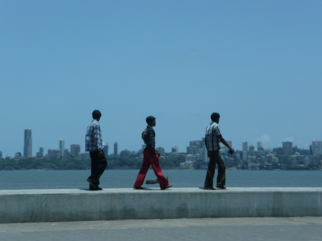 India - walking men